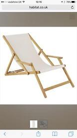 2 Sun Lounger Deck Chairs
