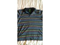 large multi coloured hugo boss polo shirt