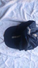 Dark blue hat silk