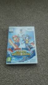 Wii game mario and sonic at the olympic winter games