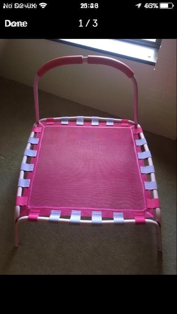 Toddler Trampoline Pink £10 ONO