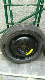 Spare wheel and new tyre - fits Nissan