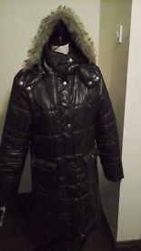 Dark Brown Winter Coat Detachable Hood