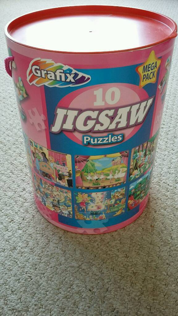 Girls jigsaw puzzles tub of 10