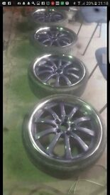 "20"" Deep dish split rim alloys"
