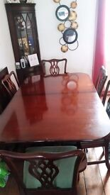 Harrods Mahogany dining table and six chairs for just £175 or reasonable offer