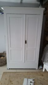 Pine Cupboard in white for sale / £140