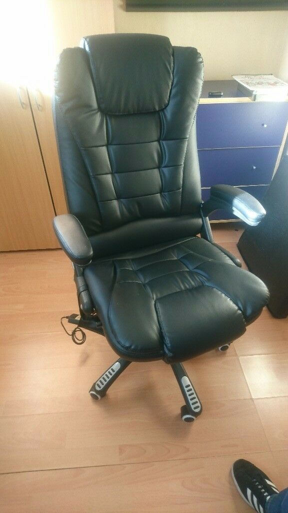 Executive Recline Padded Office Chair - Electric Massage