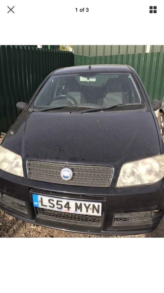 Fiat punto black front bumper
