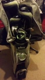 Prince golf ladies right handed GX3 20 Piece Golf clubs with cart bag