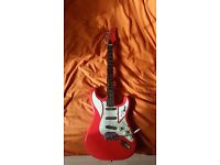 """Awesome BURNS COBRA Guitar """"Club Series"""" in Red!"""
