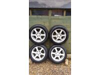 A set of 4 Winter tyres on CMS Alloy wheels.