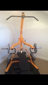 Powertec Cable Home Gym with Olympic weights and accessories