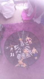 Wwe elimination chamber ring and six figures