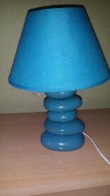 Cyan stone lamp