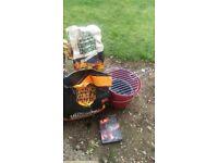 Bucket BBQ + charcoal