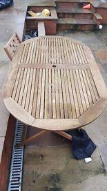 outdoor patio wooden table