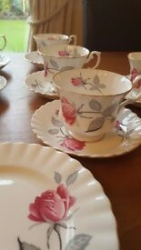 Vintage rose Richmond bone china tea set