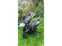iCandy double buggy and carry cot
