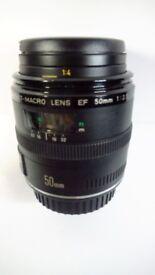 Canon compact -macro lens EF 50mm 1:2.5