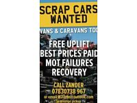 💰💰SCRAP CARS VANS WANTED💰💰