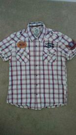 Scotch & Soda Men's Short Sleeve Button-Front Casual Shirt