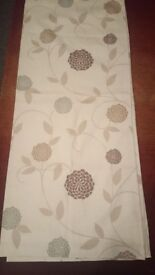 Cream and brown curtains