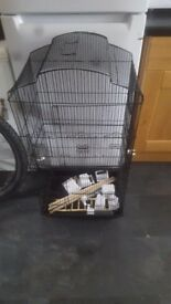 Black budgie cage