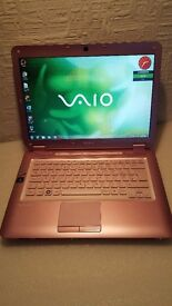 "Pink Sony Vaio Laptop 14"" screen"