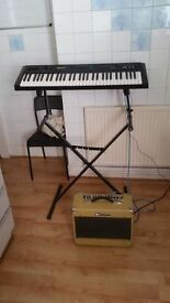 Kawai K1 ii Synthesiser with stand and charger in Excellent Condition plus amplifier WATSON
