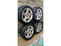 Original 235/45/17 Audi/vw/ Skoda/ Leon Alloys and Tyres. S-line