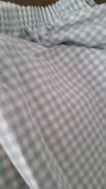 Laura Ashley Duck Egg Blue Gingham Curtains 195 cm x 190 cm
