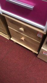 bedside- wooden handles