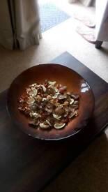 Large dish and pot pourri