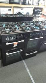 New graded Leisure 100cm dual fuel range cooker with 12 months guarantee