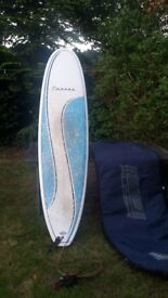 """Cortez surf board 6'8"""" leash and bag collect only"""