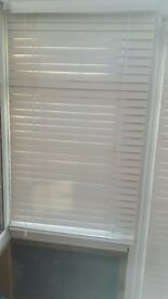 blinds //// Nice set of white wooden venetian blinds three in all