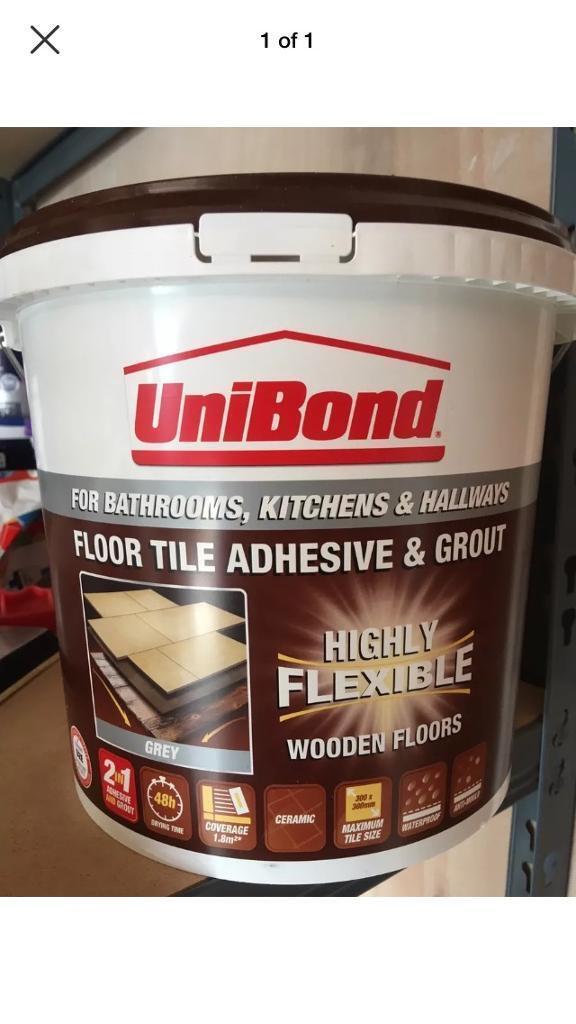 UniBond Ready to use Floor tile adhesive & grout, Grey 7 2kg | in Taverham,  Norfolk | Gumtree