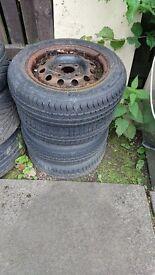 4 x tyres & wheels