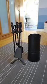 Companion set for fireplace plus coal bucket
