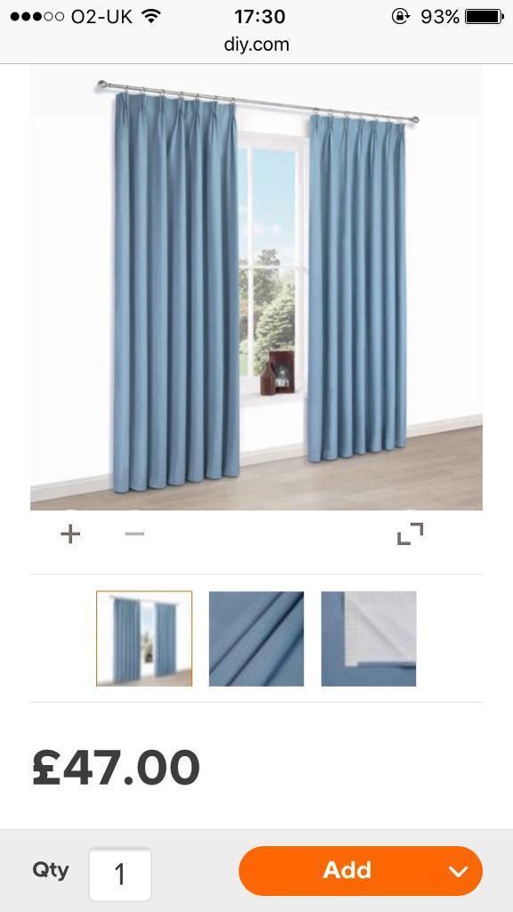 Blue blackout curtains 66x72