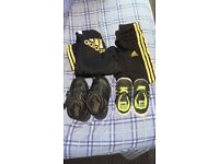 Boys tracksuite and trainers