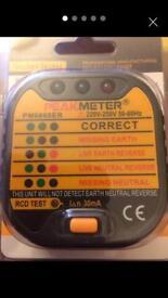 Plugin wiring & RCD Tester New