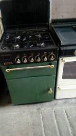 Rangemaster leisure gas cooker retro green