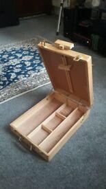 Desktop easel/ art box, light wood