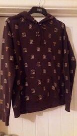 Ladies Brown ROXY Hoodie Sweatshirt - size 4