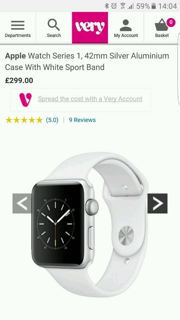 Apple Watch. Brand New Sealedin Rothwell, NorthamptonshireGumtree - Brand New in unopened and sealed box.Apple Watch 42mm sports watch with white band.£220 or nearest offer.Collection Rothwell