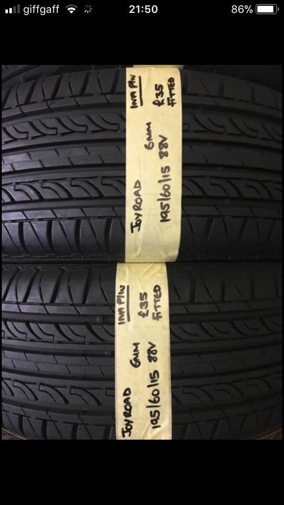 195/60/15 1956015 195-60-15 195:60:15 88V JOYROAD PAIR OF 2 tyres.