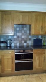 Howdens Oak Shaker Kitchen with appliances