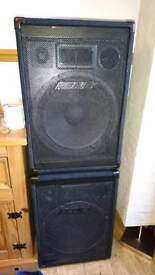 15in high performance speakers